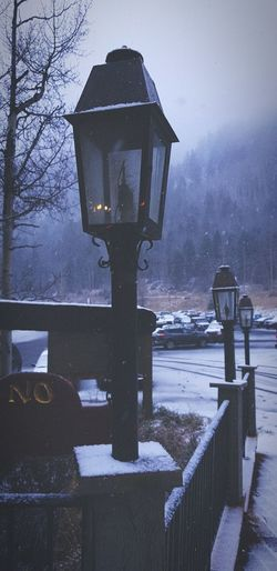 Winter Cold Temperature Outdoors Snow Day Grainy Images Faded Cool Colours Lamp Post White Color Wintertime Beauty In Nature EyeEmNewHere Crafted Beauty