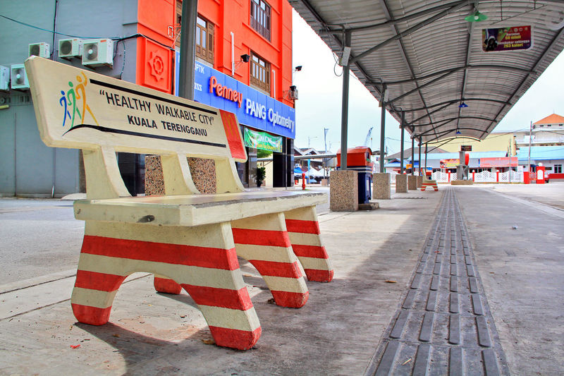they called Kuala Terengganu is a Healthy Walkable City, the movement sign is everywhere Bench City Life City Street Cityscape Kuala Terengganu Pedestrian Walkway Street Life Travel Photography Traveling Walkable City Architecture City City View  Cityscapes Healthy Lifestyle Healthy Movement Keep Walking Malaysia Movement Photography No People Outdoors Pedestrian Street Photography Travel Destinations Walking Around The City