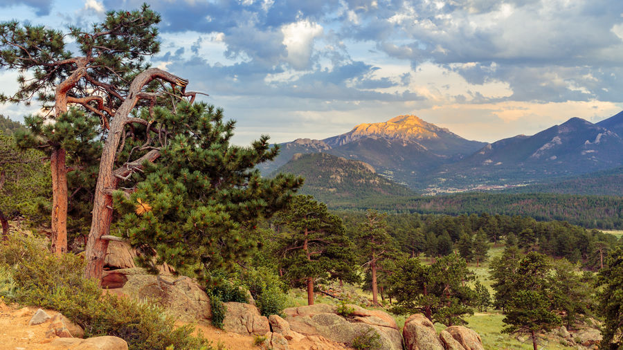 Scenic view of landscape at rocky mountain national park