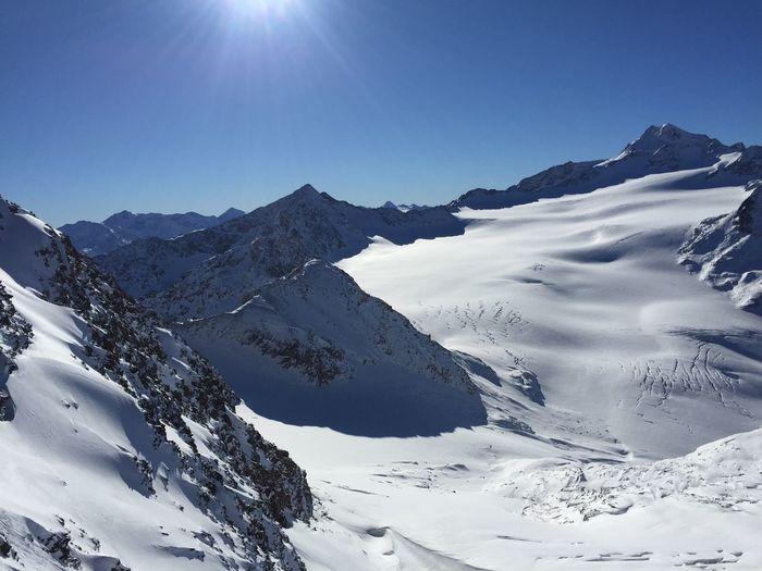 Austria Cold Temperature Landscape Mountain Snow Snow Covered Soelden Sun Winter