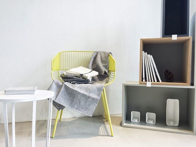Chair No People Home Interior Interior Design Indoors  Decoration Enjoying Life Relaxing Simplicity Clean Yellow Books