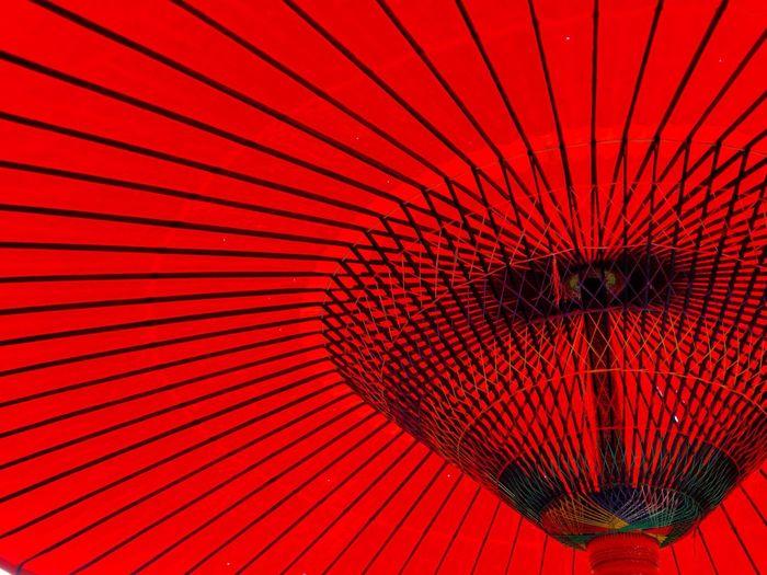 Full Frame Of Red Umbrella