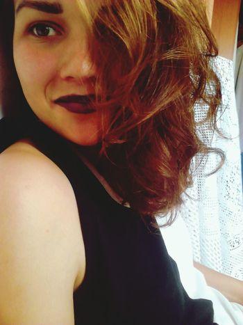 Purple Lipstick Smile