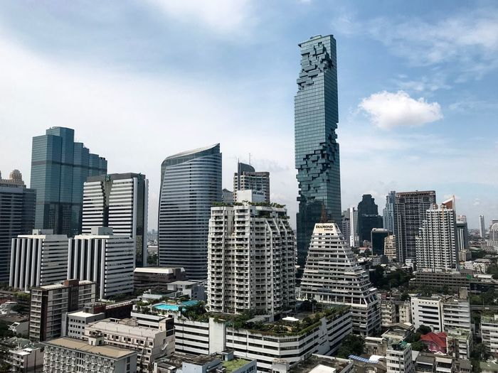 MahaNakorn Silom Thailand Building Lanscape Cityscape Towers And Sky Nofilter No People Architecture Building Exterior Built Structure City Sky Building Modern Office Building Exterior Tall - High Skyscraper Cityscape Nature Landscape Financial District  Office Urban Skyline Outdoors Tower Cloud - Sky No People