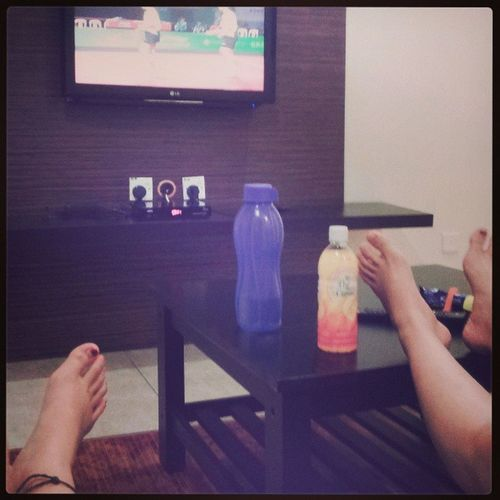 First day ~relax ~homestay ~TV Squash