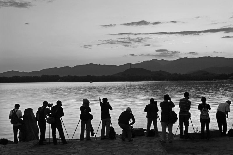 Taking Photos Photography Outdoors Large Group Of People Enjoying The View Reflection Relaxing Enjoying Life Life Silhouette Sunset Setting Sun Street Landscape Monochrome Blackandwhite Black & White Capture The Moment City Life EyeEm Best Shots Nature Light And Shadow Travel Destinations BEIJING北京CHINA中国BEAUTY Day The Photojournalist - 2017 EyeEm Awards