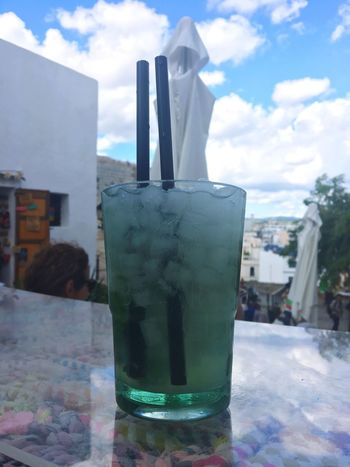 Drink Sky Drinking Glass Refreshment No People Day Freshness Close-up Outdoors Cocktails Cocktail Time Cocktail Cocktails🍹 Ibiza Shotwithiphone6S Love Sun Pretty