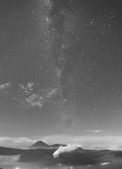 night shoot Landscape Bromo-tengger-semeru National Park Astronomy Galaxy Space Milky Way Astrology Sign Star - Space Constellation Mountain Sea Star Field Planetary Moon Star Trail Full Moon Eclipse Moonlight Astrology Infinity Space And Astronomy Moon Surface Space Exploration Moon Solar System