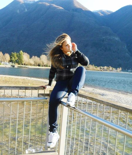 Girl Outside Photo Lake Lake View