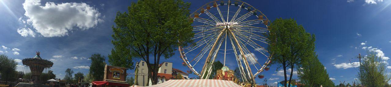 Baumblütenfest Panorama Riesenrad Werder