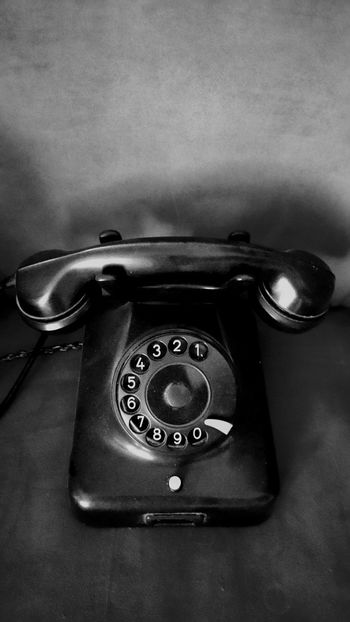 Old Telephone Memories Black & White Monochrome History Every Picture Tells A Story Old Fashion