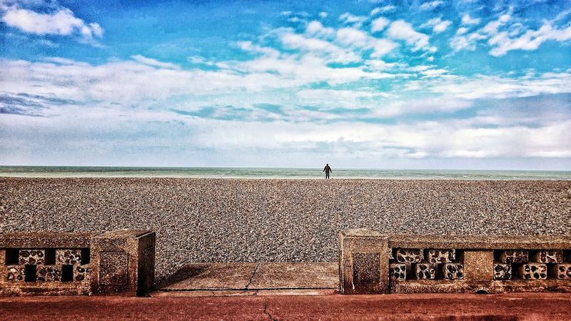 Plage de Dieppe. Alone Beach Beauty In Nature Man Alone Beachphotography Only Men Nature_collection