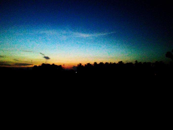 Tranquil Scene Nature Sunset Dark