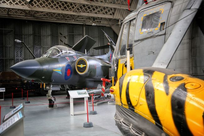 Duxford Imperial War Museum Aerial Airplane Combat Plane# Concorde Concorde Plane Day Duxford Imperial War Museum F22 Raptor Mig21 No People Outdoors Plane Museum Planes Stealth Transportation Transportation Yellow