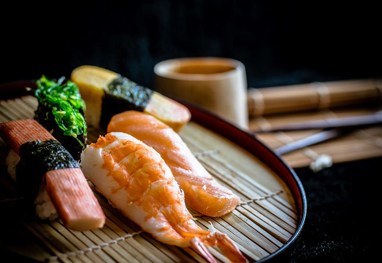 sushi Japanese food. Sushi Japanese Food Food Food And Drink Seafood Healthy Eating Indoors  Freshness No People