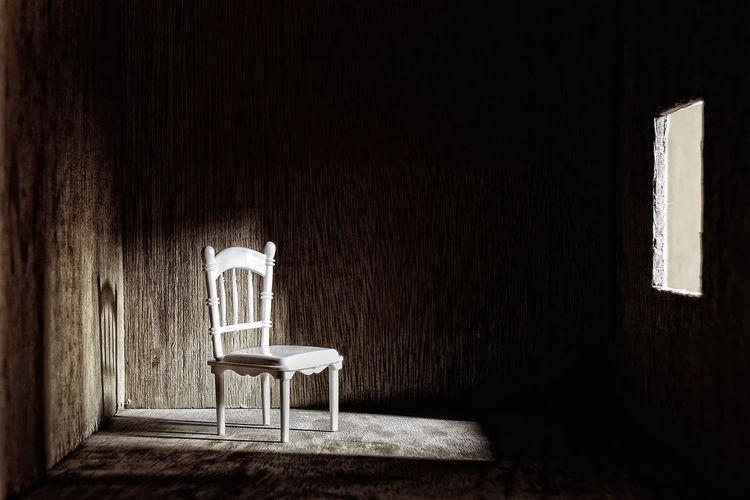 Chair Empty Absence Shadow Dark No People Photography Eyemphilippines TakeoverContrast Km Kishmark