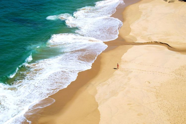 Scenic view of beach in portugal