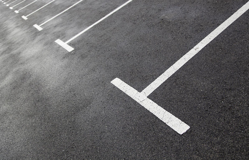 Full frame shot of parking lot