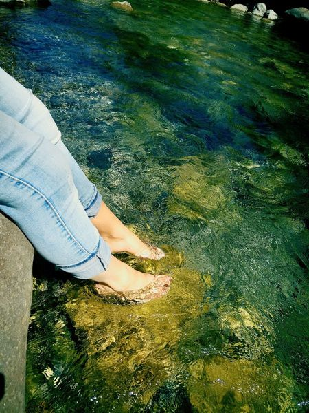 Unwinding. Gowiththeflow Relax Feeling Low Section One Person High Angle View Barefoot Day Real People Reflection Human Leg Wet Outdoors Standing Human Body Part Nature One Woman Only Women Shallow Lifestyles Ankle Deep In Water One Young Woman Only EyeEmNewHere Be. Ready. See The Light Perspectives On People Step It Up One Step Forward
