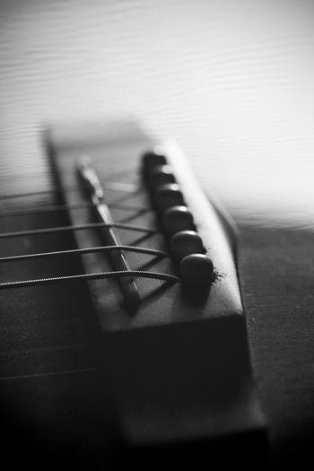 Guitar parts-bridge2 String Strings Guitars Guitar Guitar Bridge EyeEm Selects Musical Equipment Close-up Musical Instrument Music String Instrument Indoors  Guitar Musical Instrument String String