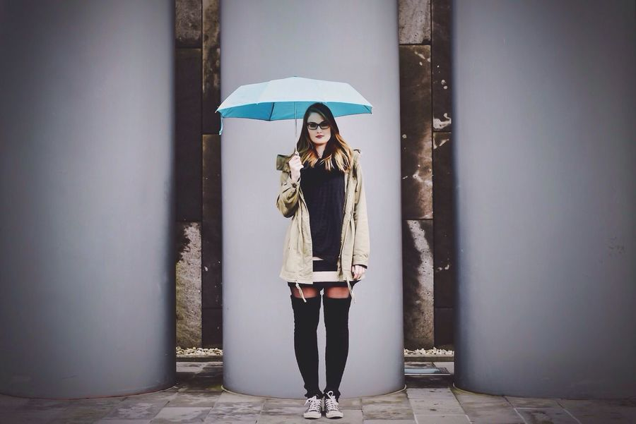 Ina and her Umbrella☔️ Portrait Of A Friend Color Portrait Street Fashion Streetphoto_color Portrait Of A Woman Umbrella Vscocam Nikon Fashion Everyday Joy