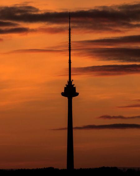 Vilnius TV Tower Close Up to You Sky Sunset Orange Color Built Structure Architecture Tower No People Tall - High Nature Technology Communication Outdoors Dramatic Sky Spire  Global Communications TV Tower Vilnius Lithuania Broadcasting Radio Aerial View Aerial Skyline Skyscraper Vilnius TV Tower