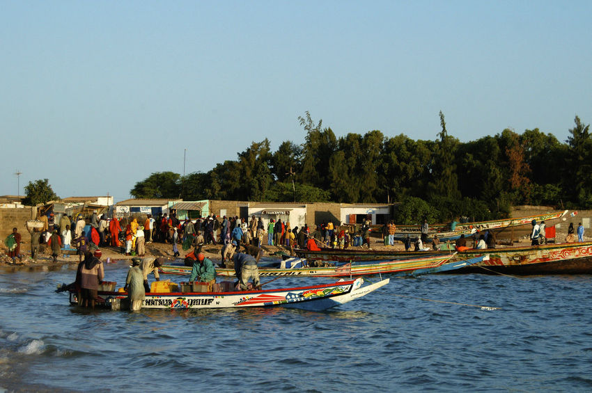Palmarin Senegal Palmarin West Africa Africa Day Mode Of Transport Nautical Vessel Outdoors Real People Senegal Transportation Water