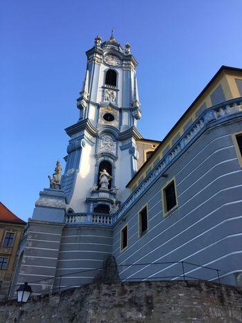 Church Blue Outdoors No People Religion Façade Clear Sky Sky Architecture Day Dürnstein