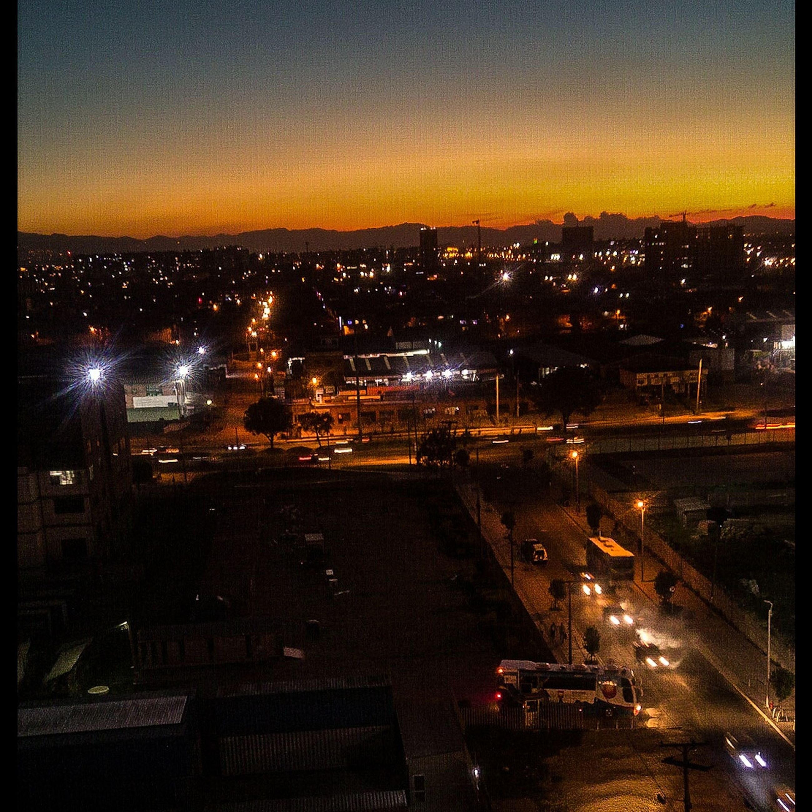 illuminated, night, building exterior, architecture, city, cityscape, built structure, no people, high angle view, outdoors, sky