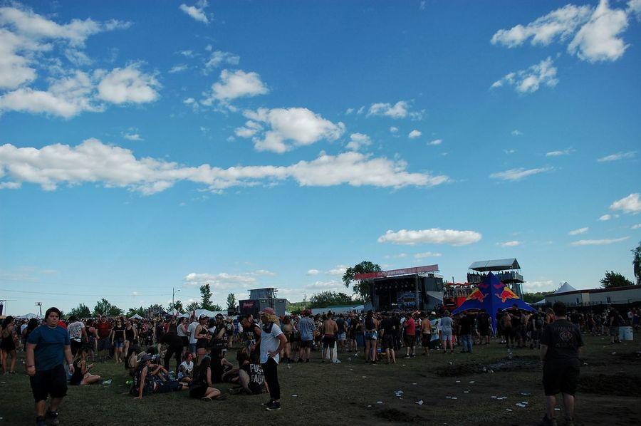 Rockfest Riot Crowd Fan - Enthusiast Men Sky Cloud - Sky