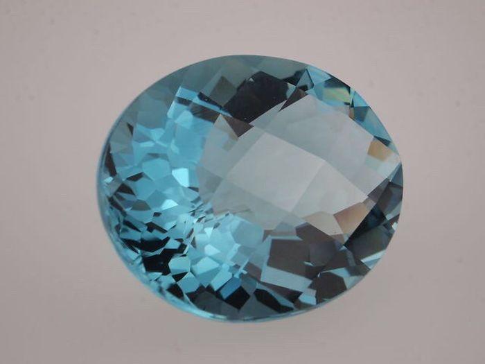 Aquamarine stone Aquamarine Gemstone  Blue Blue Gemstone Precious Stone
