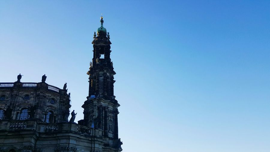 Church Church Tower Old Sky Blue No Clouds Perfect Weekend Dresden