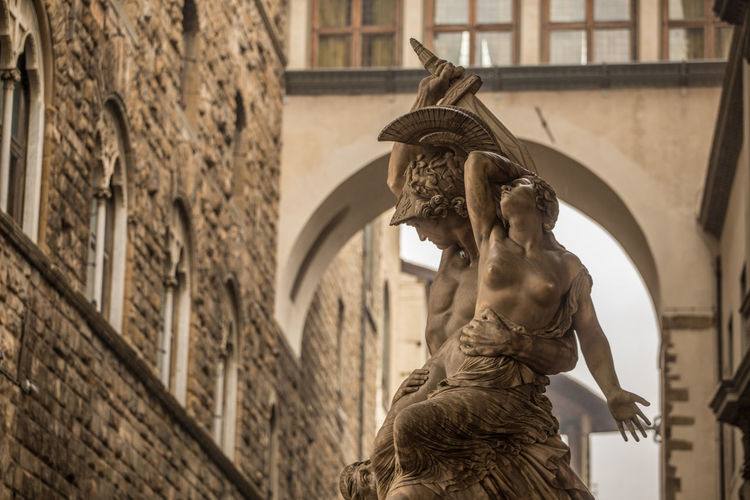 Architecture Balcony Building Exterior Built Structure City Cityscape Cultures Day Florence Florence Italy Gargoyle Gondola - Traditional Boat Marble Medieval No People Outdoors Sculpture Statue Stone Travel Destinations Vasari Corridor