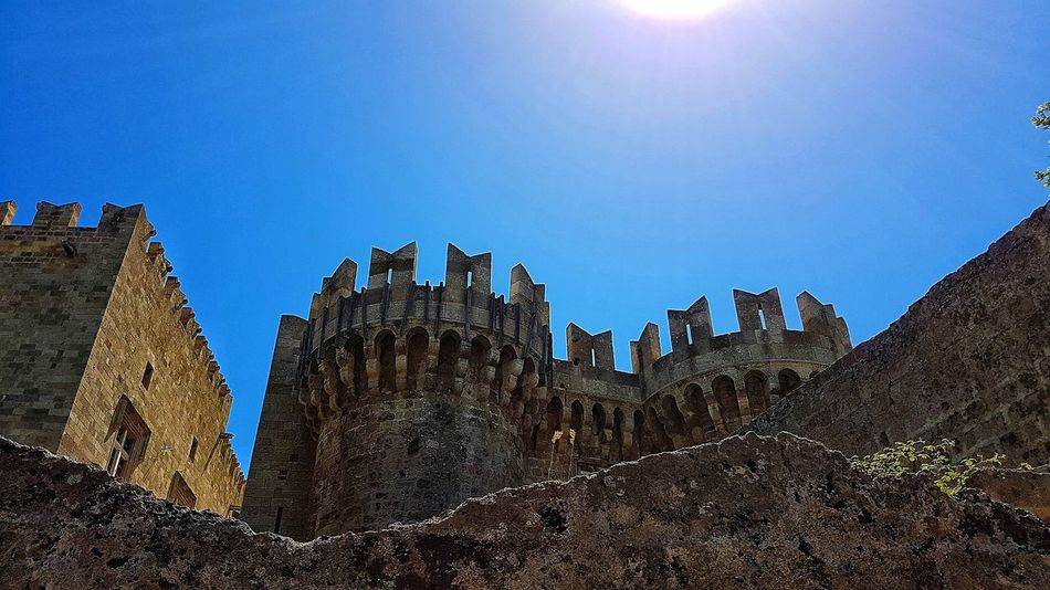 Outdoors No People Old Ruin Day Architecture Sky Blue Ancient Civilization Nature Eyeemphotography Travel Destinations Sun Medieval Castles Historyphotography Knightsofstjohn