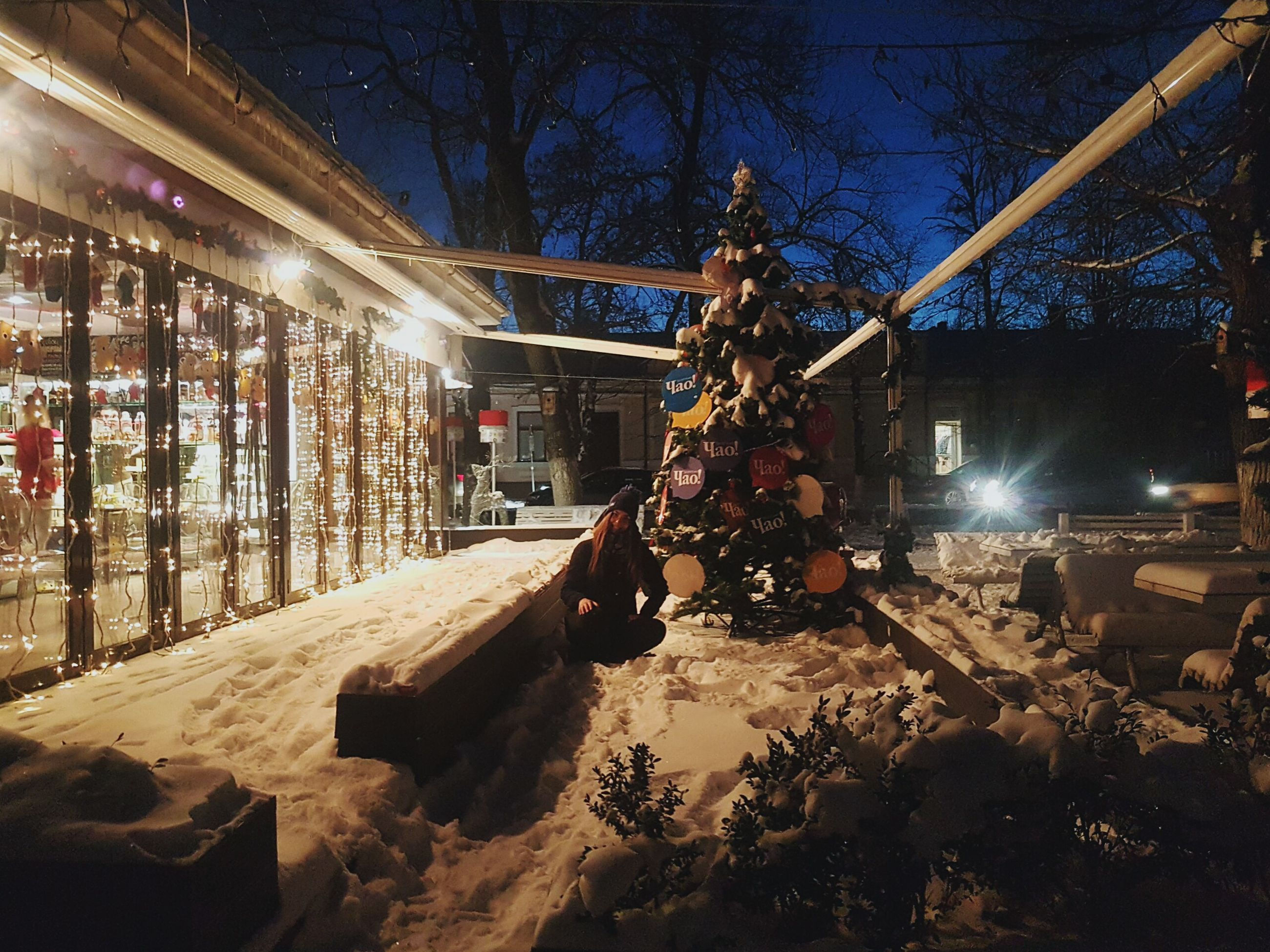 night, illuminated, christmas, dusk, christmas lights, winter, christmas decoration, snow, tree, christmas market, cold temperature, city, christmas tree, people, architecture, outdoors