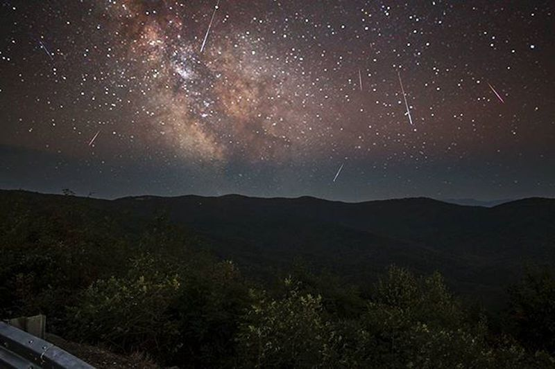Persiad meteorshower 2015 in the Cohutta wilderness. Picture Photographer Photo Photography Pic Sunny Scene Trees Sunscomingout Photos Sun Sky Scenic Tree Morning Sunscomingup Pictures Suncomeouttoplay Goodmorning Mountains Lovemountains Views LoveNature Autumn Traveling clouds landscape peaks georgia meteorshower
