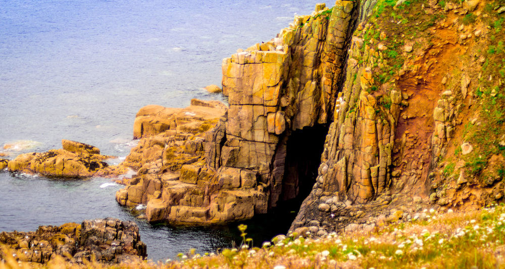 Beauty In Nature Cliff Day Landscape LandsEnd Nature No People Outdoors River Rock - Object Scenics Water