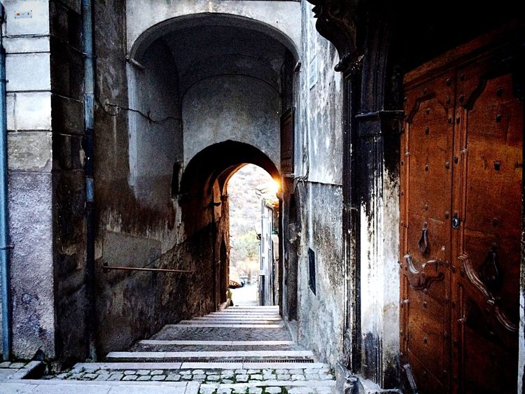 Alley View Old Doorway Vicolo Portone Antico Arco Arc