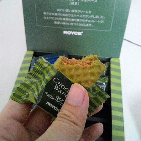 Who can resist this?Matcha Roycechocolate Roycesg