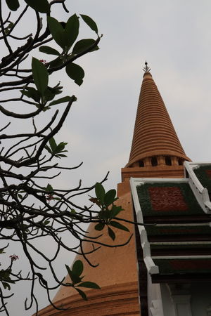 Colors Faith Green Light Nakhon Pathom Orange Travel Tree Beauty Believe Big Pagoda Brown Day Destination Famous Pagoda In Thailand Landmark Low Angle View No People Object Outdoors Prapathomchedi Shadow Sky Temple Texture
