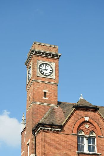 Historical clock tower in london Clock Tower Architecture Built Structure Clock Building Exterior Victorian Architecture Victorian Brick Red Church Hampstead  Tower Clock Face Building Travel Destinations Roman Numeral Historical