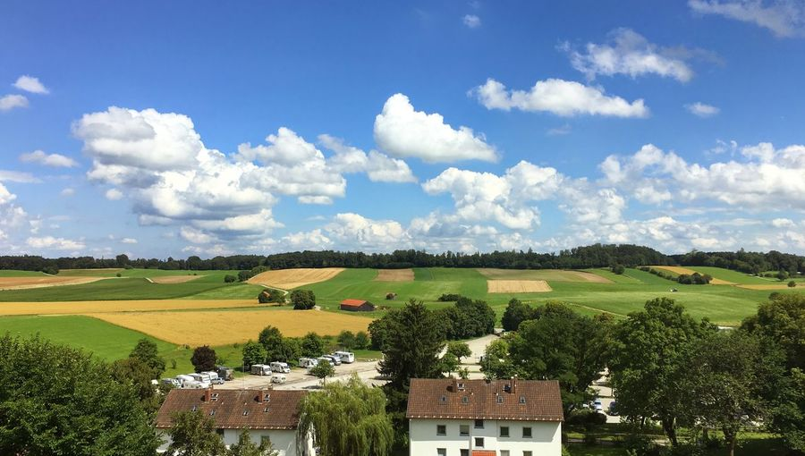Beer Garden Beutiful Day Bright Bright Day Countryside Germany Scenary Top View Live For The Story