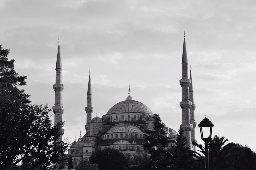 Istanbul ~ Mezquita Azul Architecture Building Exterior No People Dome Religion Istanbul Estambul Mezquita Azul Turkey Blackandwhite Black And White Black & White