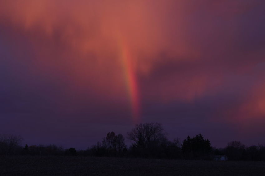 morning sunrise reflecting off these clouds and a surprise rainbow appeared Clouds Colourful Sky Magical Clouds Sunrise_Collection Beauty In Nature Close-up No People Outdoors Rainbow Sky Sunrise Be. Ready.