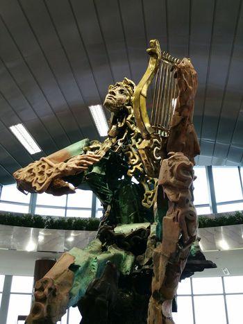 Statue Sofia Airport Metrostation Bulgaria