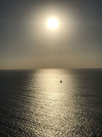 summerday Ibiza Sunset_collection Bay Beauty In Nature Day Horizon Over Water Moon Nature Nautical Vessel No People Outdoors Scenics Sea Ship Ships Sky Sun Sunpath Sunset Tranquil Scene Tranquility Water Yacht