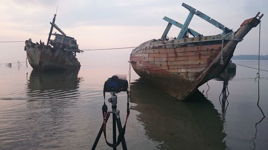 Behind the scene Hanging Out Taking Photos Check This Out That's Me Hello World Relaxing Cheese! Hi! Enjoying Life Kuala Penyu Landscape Sabah View Vacation Malaysia Scenery Nature Malaysia Background Abandon Boat
