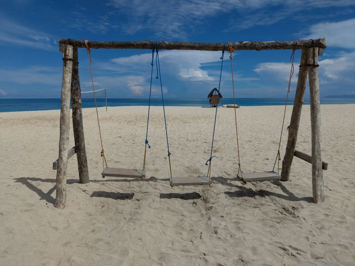 EyeEm Selects Beach Volleyball Water Goal Post Sea Beach Sand Net - Sports Equipment Hanging Lifeguard  Volleyball - Sport