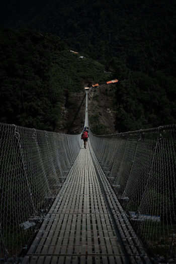 Architecture Built Structure Nature Direction No People The Way Forward Connection Outdoors Safety Night Protection Tree Metal Bridge Land Transportation Security Mountain Plant