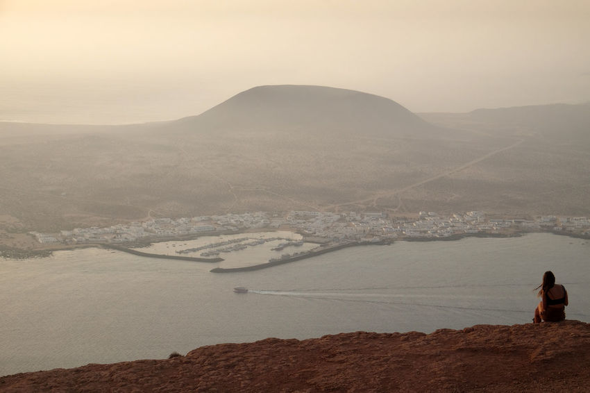 Landscape_Collection Lanzarote Lost In The Landscape SPAIN Arid Climate Beauty In Nature Desert Fog Girl Landscape Landscape_photography Mountain Mountain Range Nature One Person Outdoors People Real People Scenics Sky Tranquil Scene Tranquility Water Women